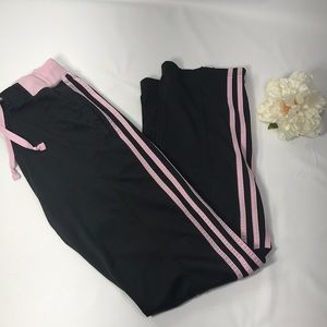 Adidas Black & Pink Track Pant